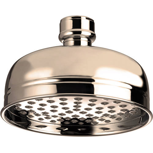 Additional image for Traditional Round Shower Head (145mm, Gold).
