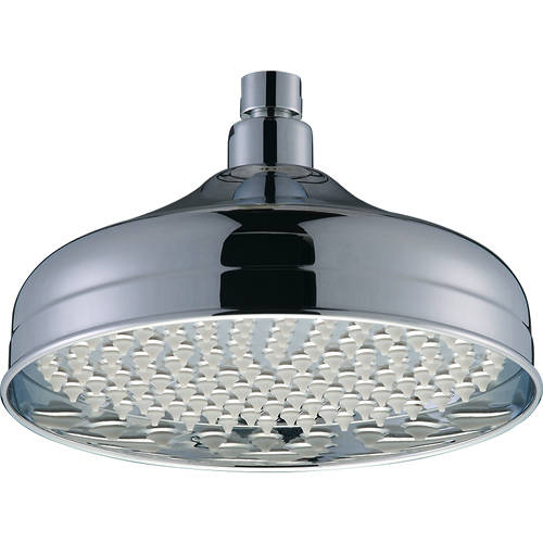 Additional image for Traditional Round Shower Head (200mm, Chrome).