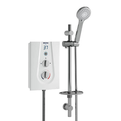 Additional image for Electric Shower With Digital Display 10.5kW (White).