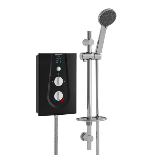 Additional image for Electric Shower With Digital Display 9.5kW (Black).