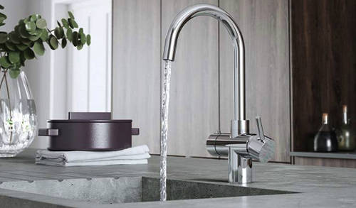 Additional image for 3 In 1 Instant Boiling Water Kitchen Tap (Chrome).