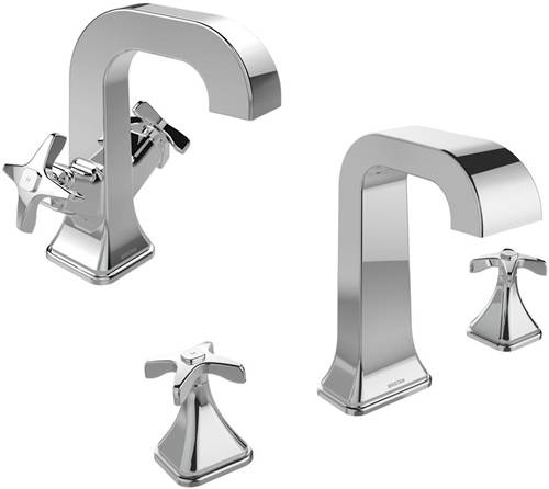 Additional image for Mono Basin & 3 Hole Bath Filler Taps Pack (Chrome).