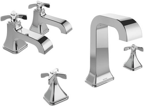 Additional image for Basin & 3 Hole Bath Filler Taps Pack (Chrome).