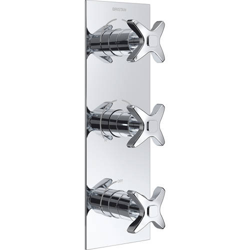 Additional image for Concealed Shower Valve (3 Outlets, Chrome).