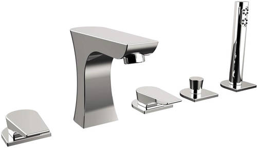 Additional image for 5 Hole Bath Shower Mixer Tap (Chrome).