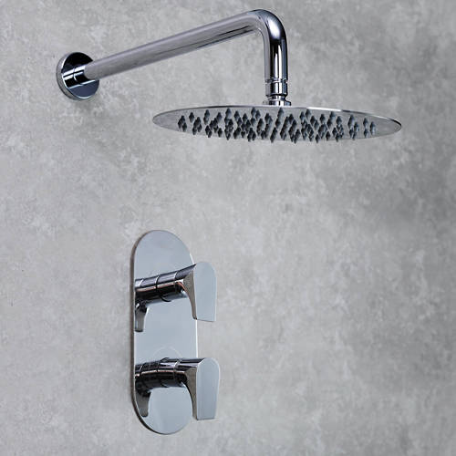 Additional image for Concealed Shower Valve & Round Head (Chrome).