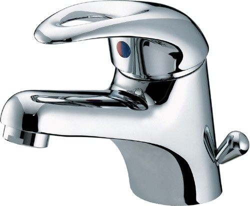 Additional image for Mono Basin Mixer Tap With Side Action Pop Up Waste (Chrome).