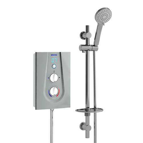 Additional image for Thermostatic Electric Shower With Digital Display 8.5kW (Silver).