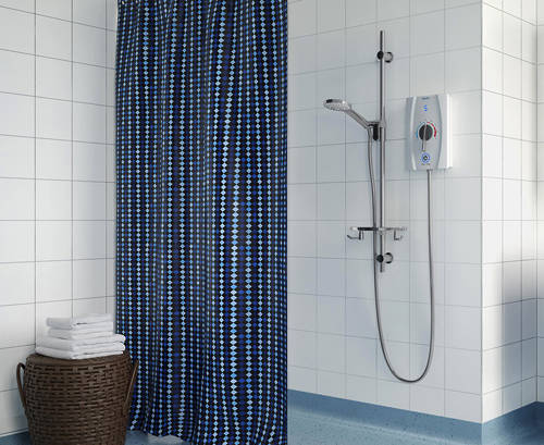 Additional image for Thermostatic BEAB Electric Shower, Long Kit & Handle 9.5kW (White).