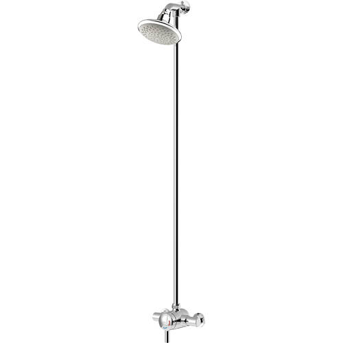 Additional image for Thermostatic Shower Valve With Rigid Riser (Chrome).