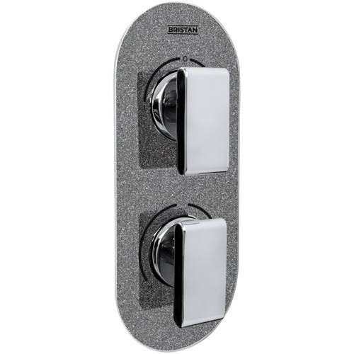 Additional image for Concealed Shower Valve (2 Outlets, Graphite Glisten).