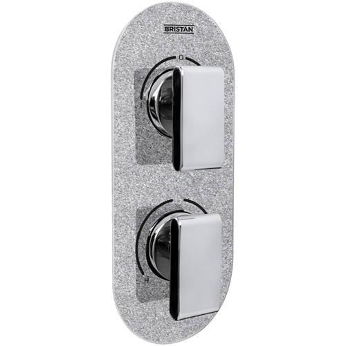 Additional image for Concealed Shower Valve (2 Outlets, Silver Sparkle).
