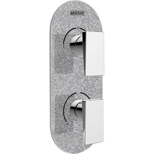 Additional image for Concealed Shower Valve (2 Outlets, Silver Shimmer).