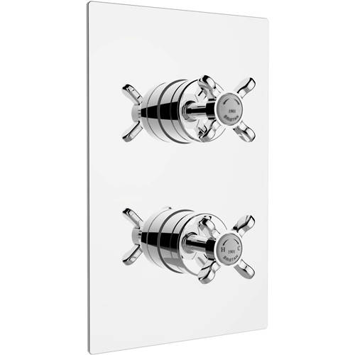 Additional image for Concealed Shower Valve With Dual Controls (2 Outlet, Chrome).