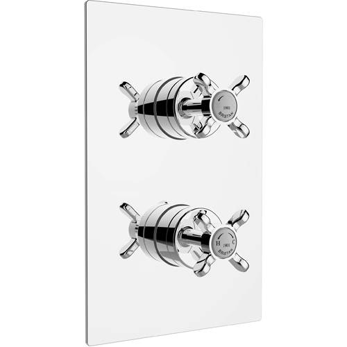 Additional image for Concealed Shower Valve With Dual Controls (1 Outlet, Chrome).