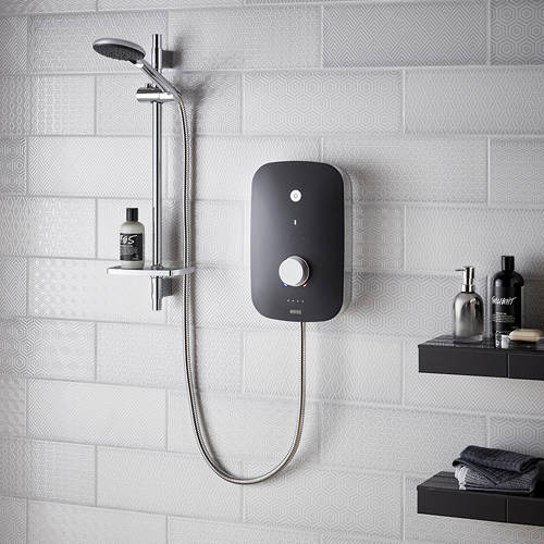 Additional image for Electric Shower 8.5kW (Black & Chrome).