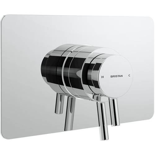 Additional image for Concealed Dual Control Shower Valve With Back Plate (Chrome).