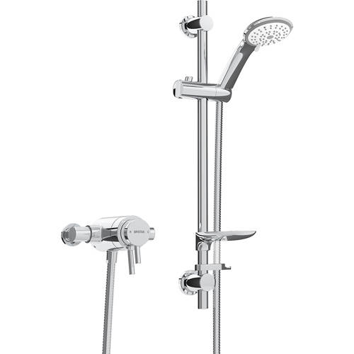Additional image for Exposed Dual Control Shower Valve With Slide Rail Kit (Chrome).