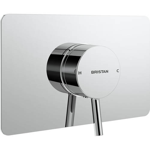 Additional image for Concealed Single Control Shower Valve With Back Plate (Chrome).