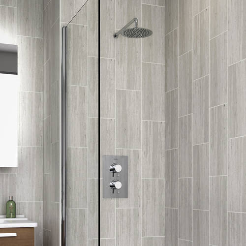 Additional image for Bath & Shower Pack With Round Head & Filler (Chrome).