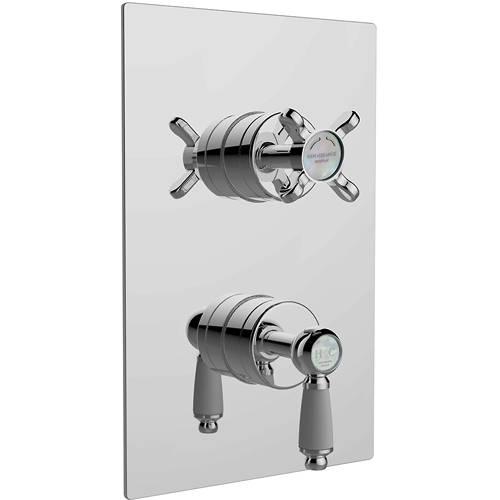 Additional image for Concealed Shower Valve (2 Outlets, Chrome).