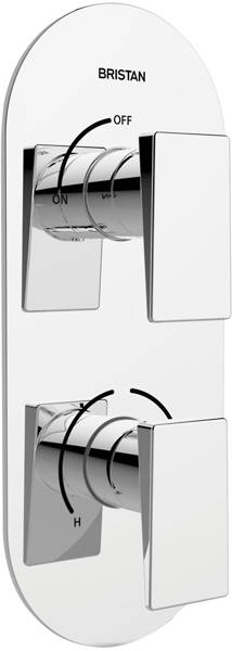 Additional image for Thermostatic Dual Control Shower Valve (Chrome).