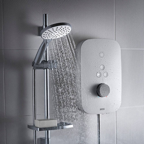Additional image for Thermostatic Electric Shower 8.5kW (White).