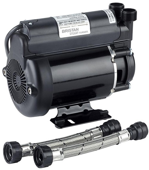 Additional image for Single Flow Single Speed Impeller Shower Pump 2 Bar (High Boost).