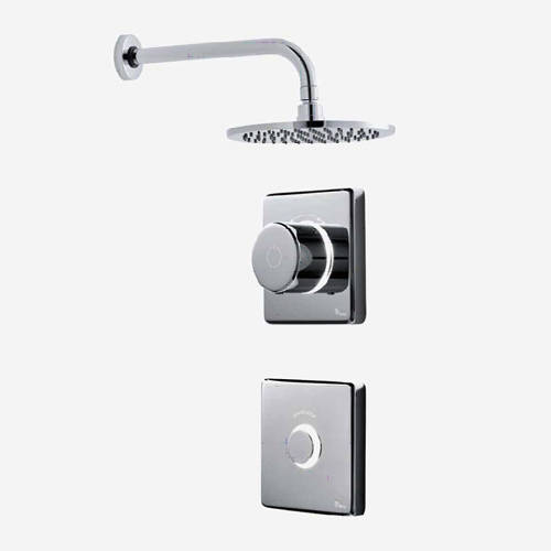 "Additional image for Digital Shower Valve, Remote & 8"" Round Shower Head (HP)."
