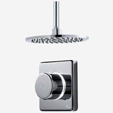 "Additional image for Digital Shower Valve, Ceiling Arm & 8"" Shower Head (HP)."