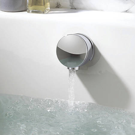 """Additional image for Twin Digital Shower Pack, Bath Filler & 8"""" Round Head (HP)."""