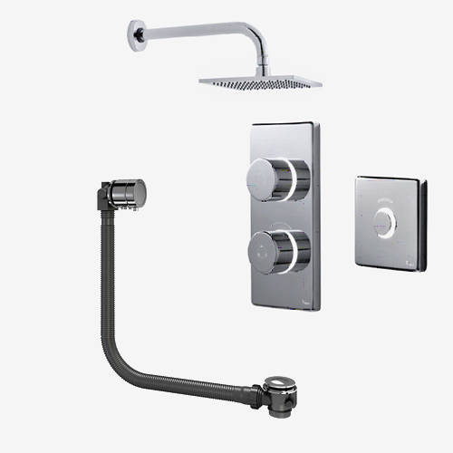 Additional image for Digital Shower Pack, Bath Filler, Remote & Square Head (HP)