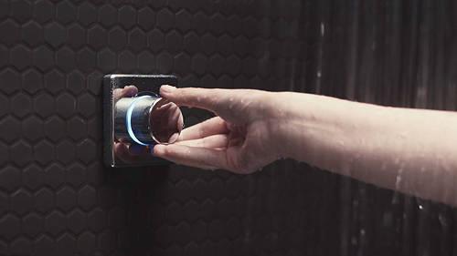 "Additional image for Digital Shower Valve, Wall Arm & 8"" Shower Head (LP)."