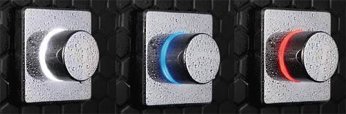 """Additional image for Digital Shower Valve, Remote & 8"""" Square Shower Head (LP)."""