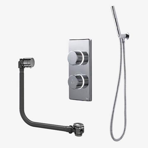 Additional image for Twin Digital Shower Pack, Bath Filler & Shower Kit (LP).