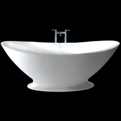 Additional image for Kurv Bath With Plinth 1890mm (Matt White).