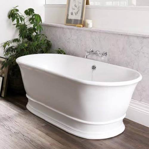 Additional image for Bampton Bath 1555mm (Polished White).