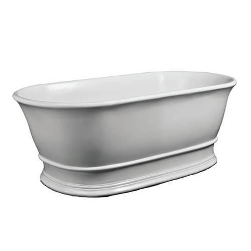 Additional image for Bampton Bath 1555mm (Matt White).