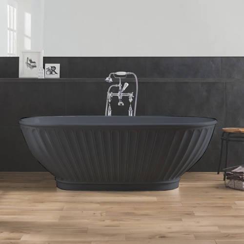 Additional image for Casini ColourKast Bath 1680mm (Gunmetal).