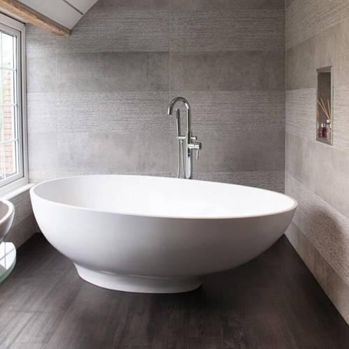 Additional image for Gio Bath 1645mm (Polished White).