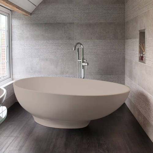 Additional image for Gio ColourKast Bath 1645mm (Light Fawn).