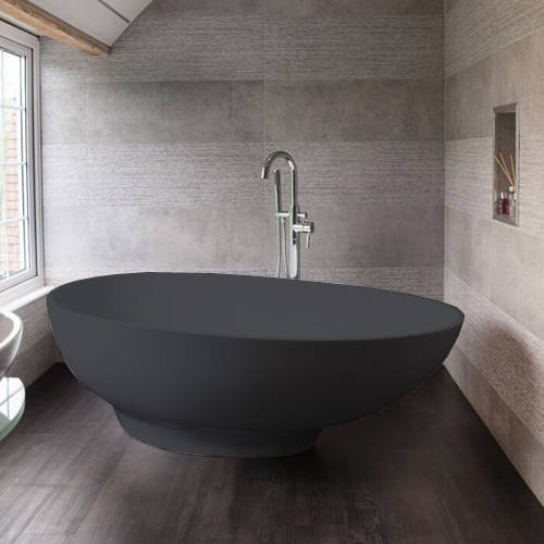 Additional image for Gio ColourKast Bath 1645mm (Gunmetal).