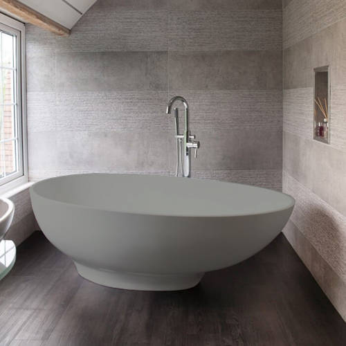 Additional image for Gio ColourKast Bath 1645mm (Industrial Grey).
