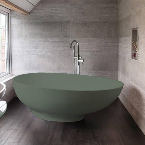 Additional image for Gio ColourKast Bath 1645mm (Khaki Green).