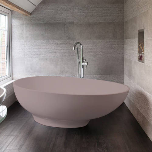 Additional image for Gio ColourKast Bath 1645mm (Satin Rose).
