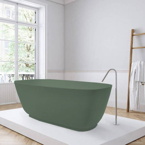 Additional image for Divita ColourKast Bath 1495mm (Khaki Green).