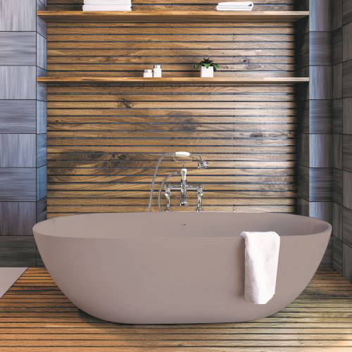 Additional image for Crea ColourKast Bath 1665mm (Satin Rose).