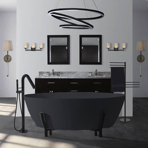 Additional image for Essex ColourKast Bath With Stand 1510mm (Gunmetal).