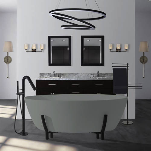 Additional image for Essex ColourKast Bath With Stand 1510mm (Industrial Grey).