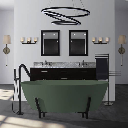 Additional image for Essex ColourKast Bath With Stand 1510mm (Khaki Green).